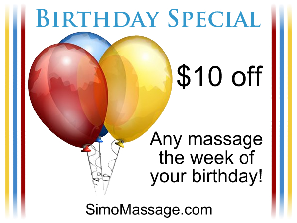 Simo Massage Birthday Special